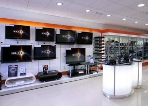 electronics showroom interior design and display furniture