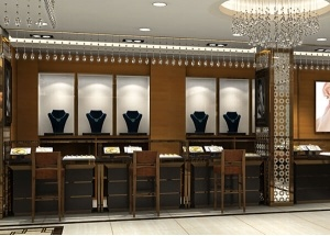 jewellery showcase for showroom interior design india