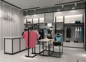 men clothes shop decoration ideas