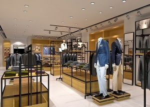 modern retail store fixtures for men clothes shop