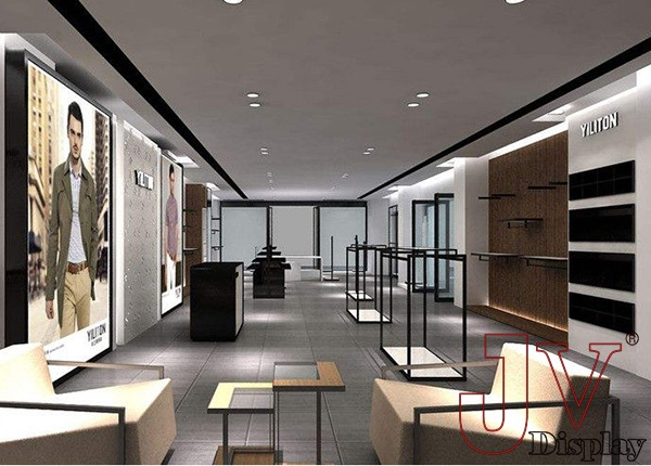 Retail men clothing store design ideas display shelving - Men s clothing store interior design ideas ...