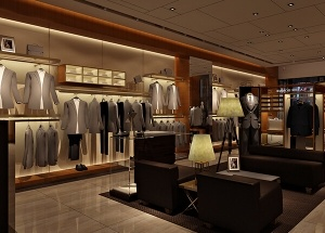 Modern clothing boutique shop design decoration displays