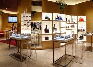 Luxury lady store display cabinets showcase