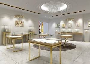 interior design of jewellery shop