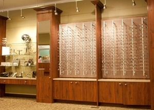 eyeglass display rods