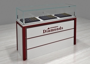 jewelry glass display case