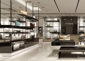 retail store display shelves for bag store design