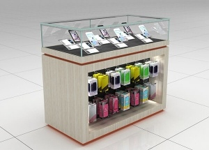 mobile phone glass display cabinet