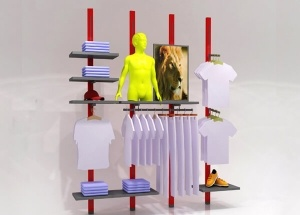 wall mounted clothing display racks