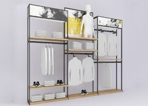 clothing shop display racks