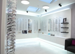 locking eyeglass frame displays