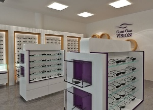optical frame display ideas store showcases