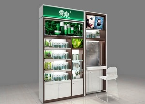 skin care product display