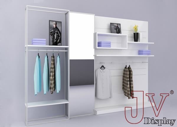 wooden clothing display racks