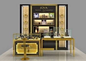 luxury perfume counter perfume display stand
