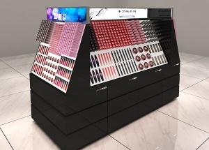 makeup counter displays