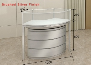 Curved jewellery counter shopfitting companies supply