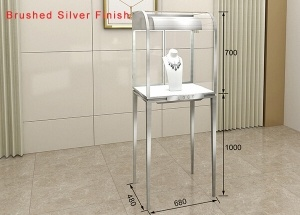 glass jewelry tower showcase quarter-vision