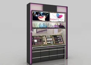 wall display stand for makeup shop
