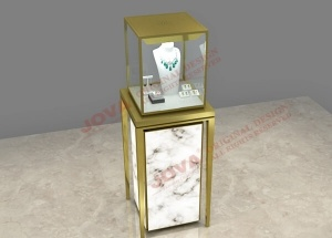 jewellery showcase display case pedestal