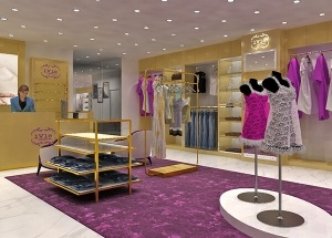 cloth shop interior design