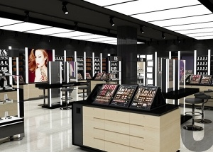 interior design of cosmetic shop