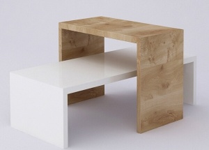 2 pc nesting table set