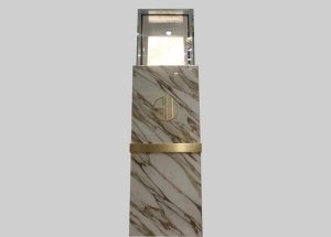 luxury marble jewelry display pedestal stands