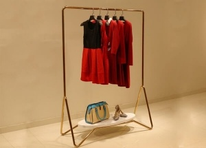 metal garment display racks