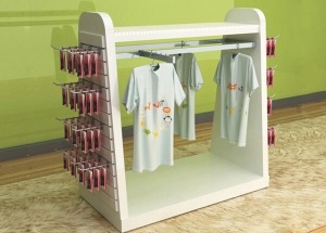 free standing wooden clothes rack
