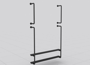 wall mounted display rack