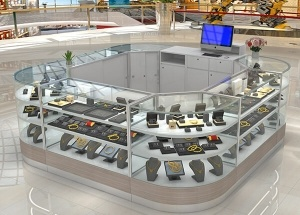 jewelry showcases for mall jewelry store