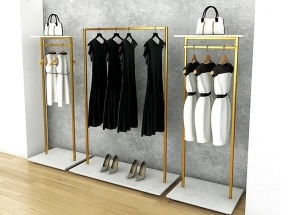 steel clothes racks stand for shops