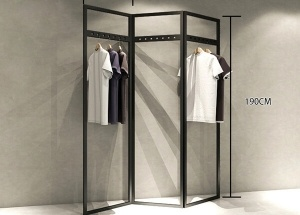 cloth shop steel rack for garment shop