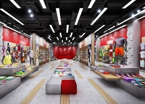 sports shop interior design
