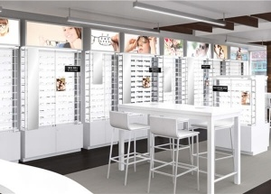 optical shop wall display