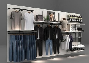 retail boutique display fixtures clothing store racks