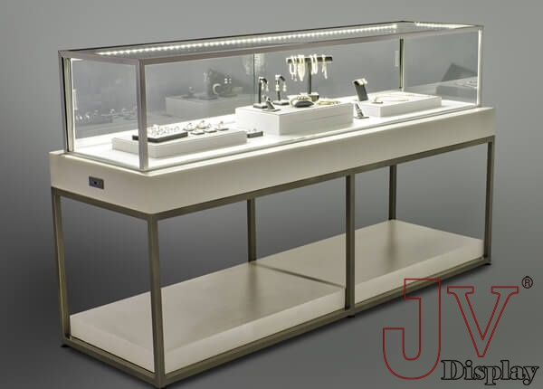 gold jewellery display showcase