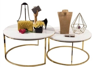 round nesting tables for boutique store