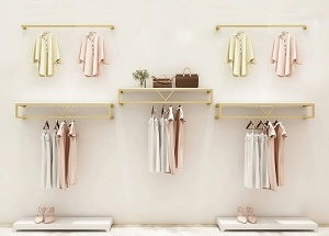 retail clothing racks wall mounted clothes rack with shelves