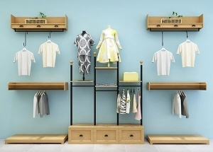 wall mounted garment display ideas