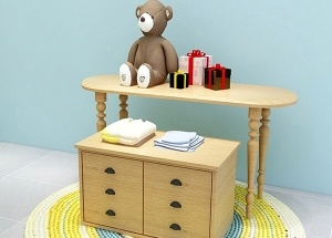 retail store furniture wooden nesting tables with drawers