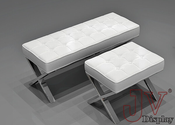 white leather reception chairs