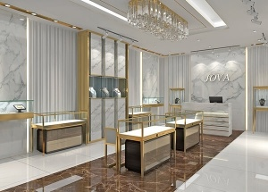 Interior design for jewellery showroom