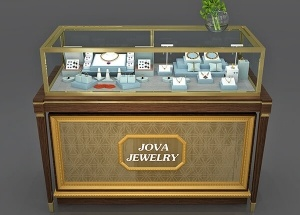gold jewellery showcase