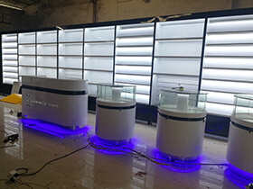 Canada mobile counter display showcase project completed